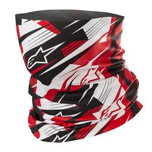 Alpinestars Motorcycle Windproof Lightweight Neck Tube 2019 - Blurred Red