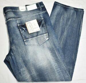 Southpole Jeans Men's Biker Distressed Moto Stretch Denim Ice Blue Wash B&T R057