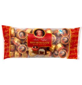 800 g Mozartkugeln Maître Truffout gefüllt mit Pistazienmarzipan Haselnussnougat