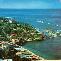 Lahaina Maui Hawaii Postcard 1981 Vintage Aerial View Marina City View