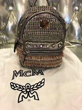 Original Damen MCM MINI CRYSTAL Limitiert Backpack Rucksack Leder Swarovski