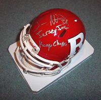 "Rutgers Joe ""Jersey Joe"" Martinek Signed Autographed Mini Helmet Keep Choppin"