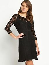 BNWT Vila Finera Black Lace Dress Size M - 12 Stretch RRP £50