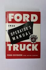 1954 FORD OWNER, INSTRUCTION, TRUCK OPERATOR'S MANUAL
