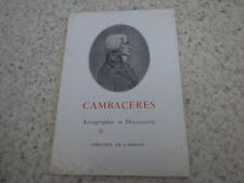 1963.Catalogue Cambaceres.Librairie de l'abbaye.