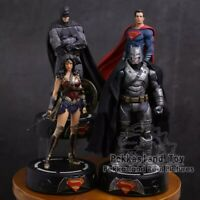 DC Justice League Batman Wonder Woman Superman Statue With LED Light PVC Gift