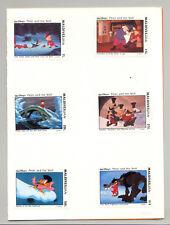 Maldives #1919-1924 Disney 6v Imperf Proofs Mounted in Folder