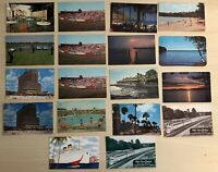 Lot of 18 Travel Souvenir Vintage Postcards Hotels Hawaii Cruise Ship Railroad
