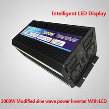 3000W (6000W Peak) Power Inverter Converter DC 24V to AC 230V 240V car camping
