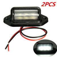 2 PCS Waterproof Universal 6-SMD LED License Plate Lamps Lights For Truck SUV