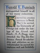 ANTIQUE UNIVERSITY OF CHICAGO BIG TEN FOOTBALL MEDAL WIN 1921 AMOS ALONZO STAGG