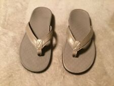 Vionic Orthaheel Flip Flops Women Size 9 Tan