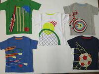 Boys top MINI BODEN T shirt baby 2 3 4 5 6 7 8 9 10 11 12 years football bike