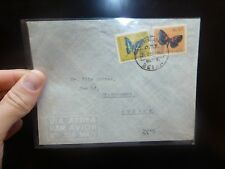 Mozambique $1.5 + $4.5 Butterfly on A/M cover Beira to Sweden  (33bee)