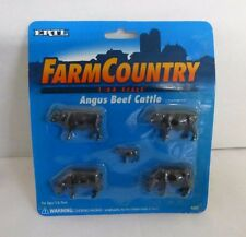 ERTL Farm Country Angus Beef Cattle, # 4342 1/64 Scale, Model Railroad