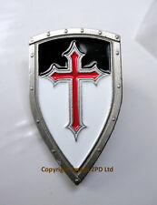 ZP384 Knights Templar Beausant Shield Crusader St George Cross Badge Medieval