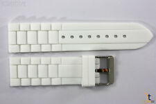 22mm Fits Fossil White Silicon Rubber Watch BAND Strap
