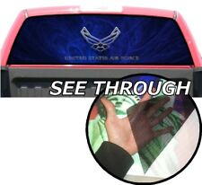 P350 Air Force USAF Eagle Rear Window Tint Graphic Decal Wrap Back Pickup