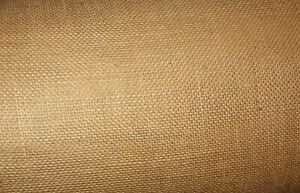 "Burlap 10-oz Fabric 40"" Wide By The Yard Natural Jute #FA26"
