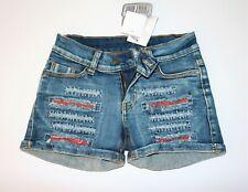 Funky Diva Brand Blue Distressed Finish Denim Shorts Size 7/8 yrs BNWT #GIRL2