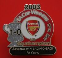 Danbury Enamel Victory Pin Badge Arsenal Football Club FC FA Cup Winners 2003