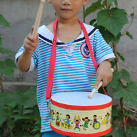 Wooden Mallets Strap Drum Percussion Musical Instrument Kids Toy Gift Novelty