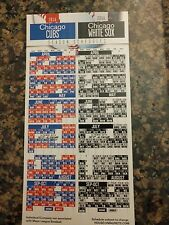 Chicago Cubs White Sox 2016 Magnet Schedule