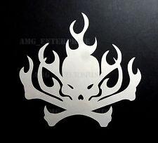 White Flame Skull Window/Bumper Sticker Vinyl for Citroen DS3 DS4 DS5 Berlingo