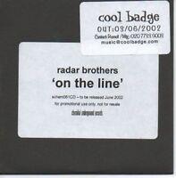 (AH40) Radar Brothers, On The Line - DJ CD