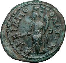 SEPTIMIUS SEVERUS 193AD Ancient Roman Coin TYCHE LUCK Fortuna Prosperity i20321