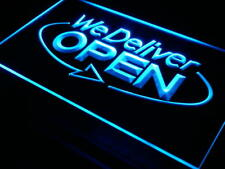 "16""x12"" i028-b OPEN We Deliver Services Cafe Neon Sign"