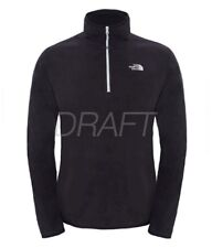 The North Face Mens 100 Glacier 1/4 Zip Pullover Fleece M Black