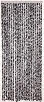Flauschvorhang anthrazit/weiss aus Chenille 100 x 230 cm Camping Caravan #64036