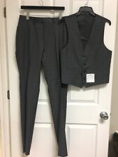 CALVIN KLEIN, Men' Dress Pants & Vest, Gray, Size 40, 33 W, NEW
