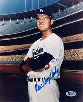 DON DRYSDALE SIGNED AUTOGRAPHED 8x10 PHOTO LOS ANGELES DODGERS HERO BECKETT BAS
