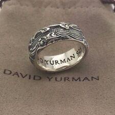 David Yurman 925 Sterling Silver 9 mm Waves Narrow Band Men's Ring Size 10