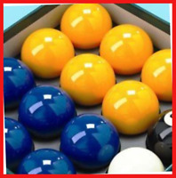 "Homegames Pool Table Balls BLUE & YELLOW Pub UK 2"" Inch Set"