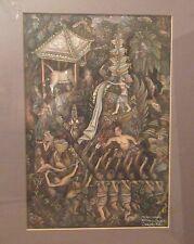 vintage original Balinese Bali Ida Bagus Jokohadi Gianyar watercolor painting
