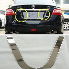 New 2pcs Steel License Plate Side Stripe Trim For Nissan Altima 2013 2014 2015