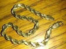 """Solid 14k gold bracelet 7-1/2"""" long 12 grams stamped"""