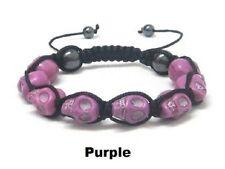 SALE! Handcrafted Purple Skull Skeleton DOD Hip Hop Style Bracelet Balla Jewelry