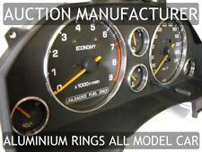 Toyota Celica GT ST T16  1985-1989 Polished Aluminium Chrome Gauge Trim Rings x6