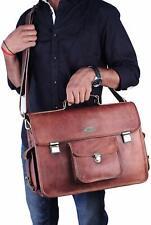 """Genuine Leather Men's Briefcase 18"""" Laptop Bag Messenger Bag Office Bag"""