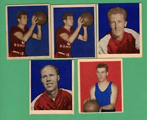 LOT OF (5) 1948 BOWMAN BASKETBALL DON PUTMAN FRED LEWIS PRICE BROOKFIELD BISHOP