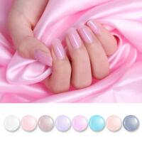 BORN PRETTY Nail Polish Pink Translucent Jelly Nail Art Varnish  8Colors