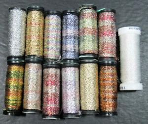 13x Needlepoint/Embroidery THREAD KREINIK Ombre metallic ribbon+more-NJ5
