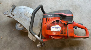 Husqvarna K970 III Concrete Cut Off Saw For Parts Scored Piston And Cylinder