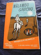 Partizione Malambo Gaucho Caldarella Siempre el Arranbal Grane Tango Rhodania