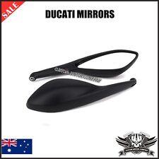 Black Rear Side Mirrors Ducati monster streetfighter 696 796 659 795 1100 848