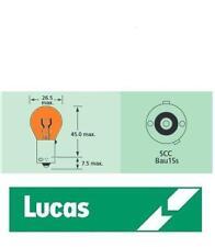 10 X Genuine LUCAS LLB581 581  12V 21W  AMBER INDICATOR  BULBS
